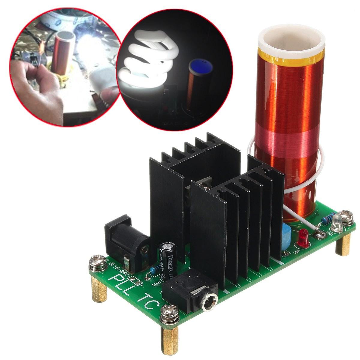 15W Plasma Music Wireless Power Transmission Across Air Horn Lighting For Tesla Coil Module