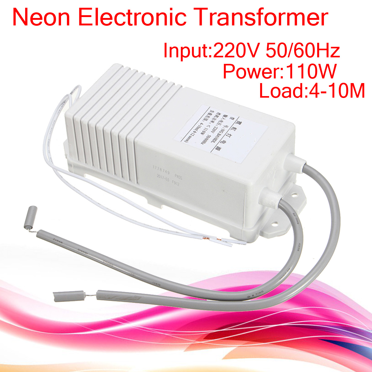 10000V 10KV 30mA 110W 10M Electronic Neon Transformer Rectifier Power Supply
