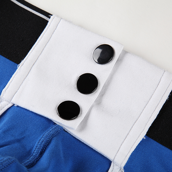 Sexy Casual Buttons Opening U Convex Wide Waistband Cotton Breathable Men Boxers Underwear