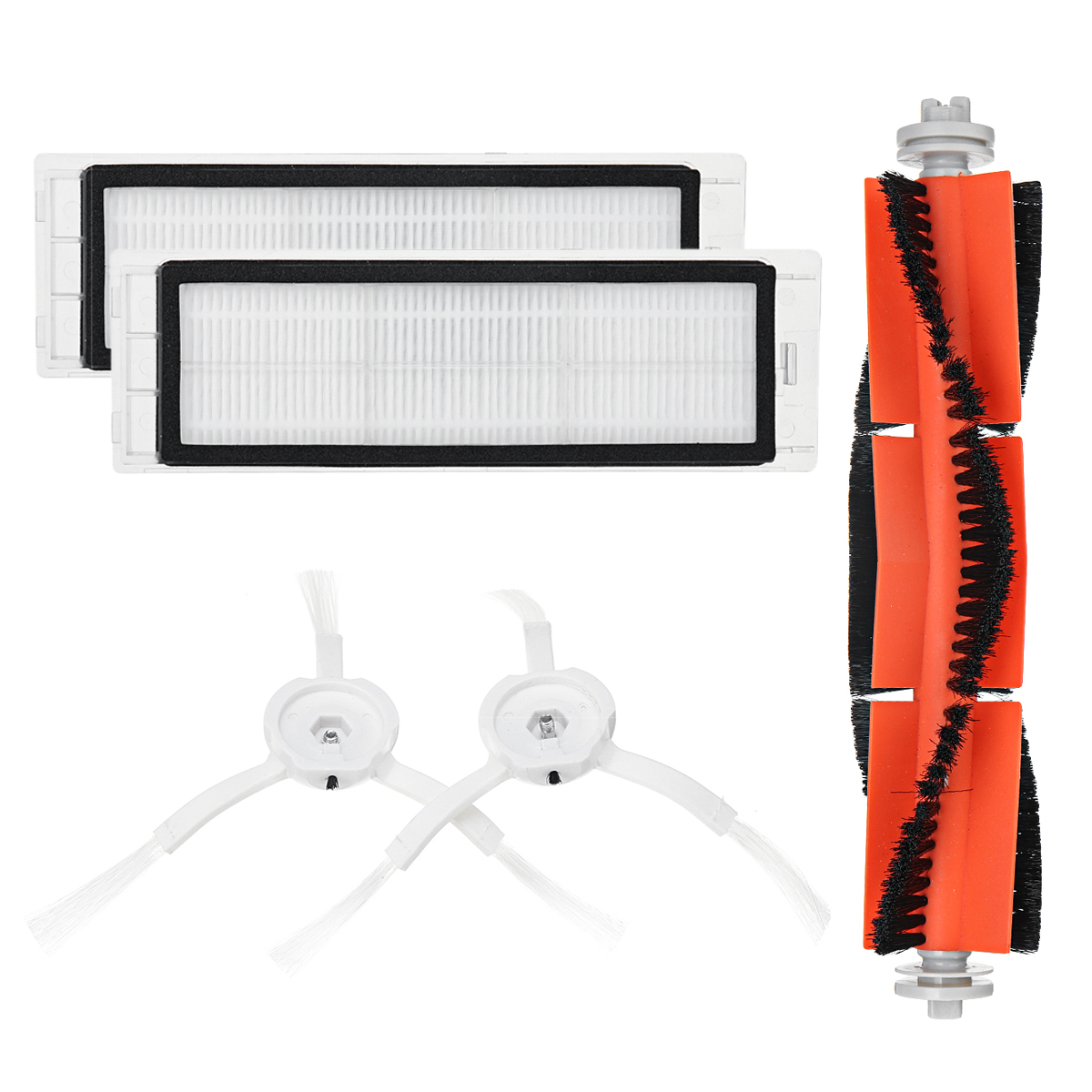 Robot Vacuum Cleaner Replacements for Xiaomi Roborock Mi Robot Kits 2pc Filter 2pcs Side Brush 1pc Main Brush 1pc Virtual Magnetic Wall