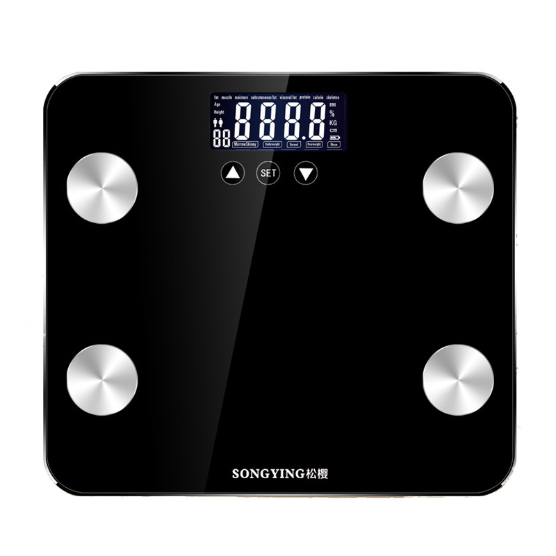 180KG/50G Bathroom Scales LCD Display Floor Body Weight Smart Electronic Digital Scale Balance Bariatric Health