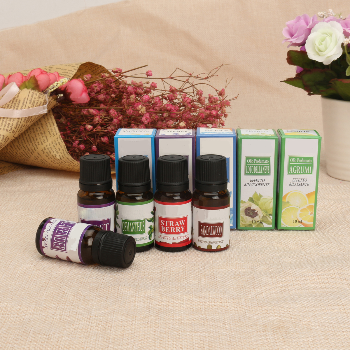 12pcs Aromatherapy Essential oil for Air Diffuser Aroma Therapy Humidifier