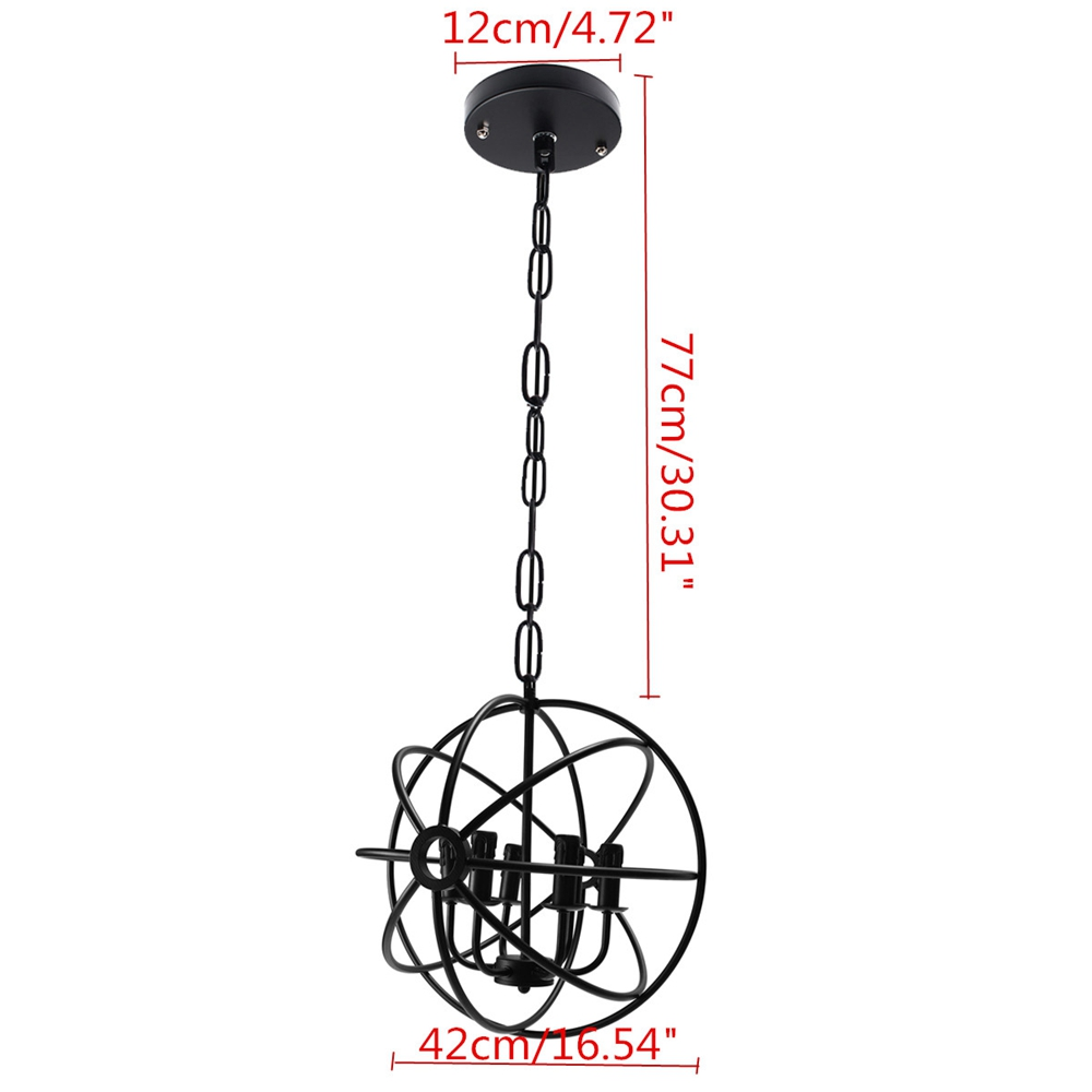 Industrial 6 Heads Iron Chandelier Pendant Light Hanging Ceiling Lamp Fixture Kitchen Room Decor