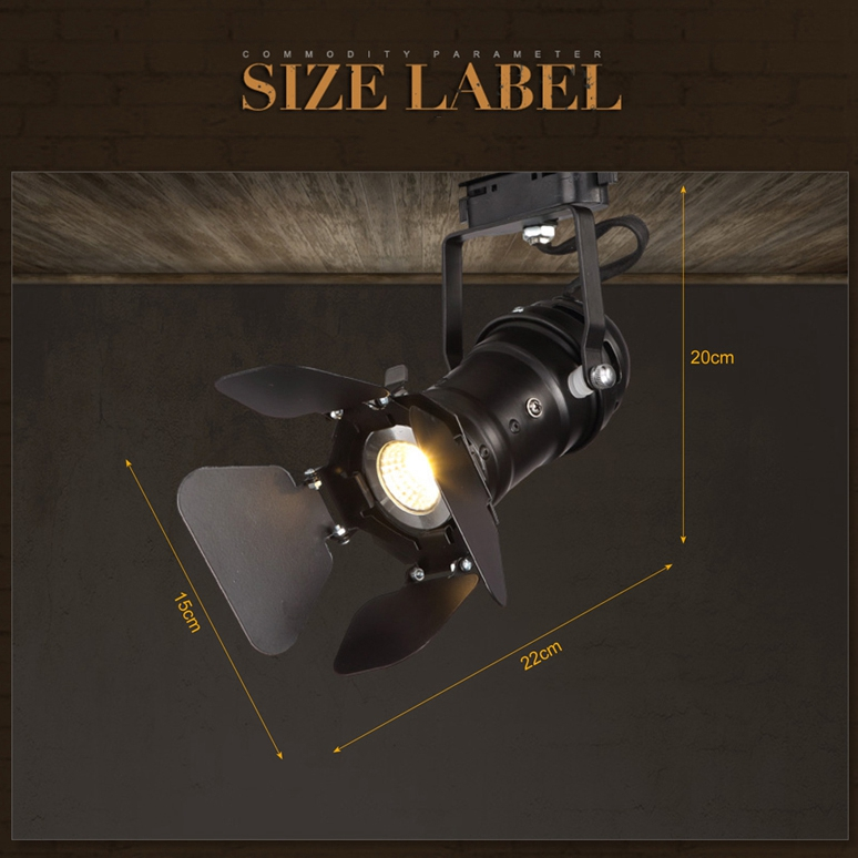 Retro Minimalist American Country LED Tracking Light Spot Lightts Ceiling Lamp 110V 220V
