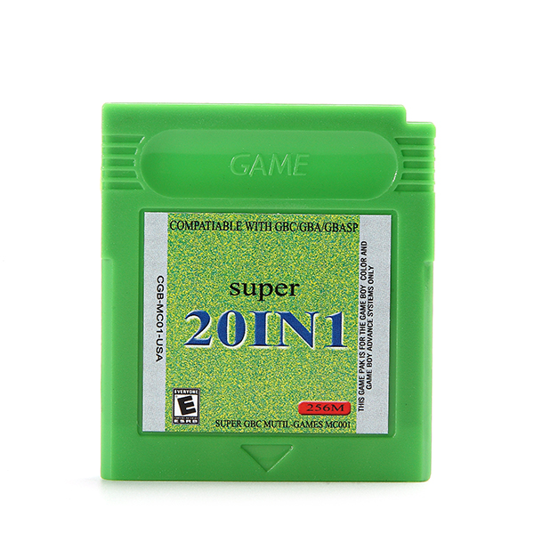 20 in 1 Game Cartridges Collection Card English Collector Version for Nintendo GBA GBC GBASP