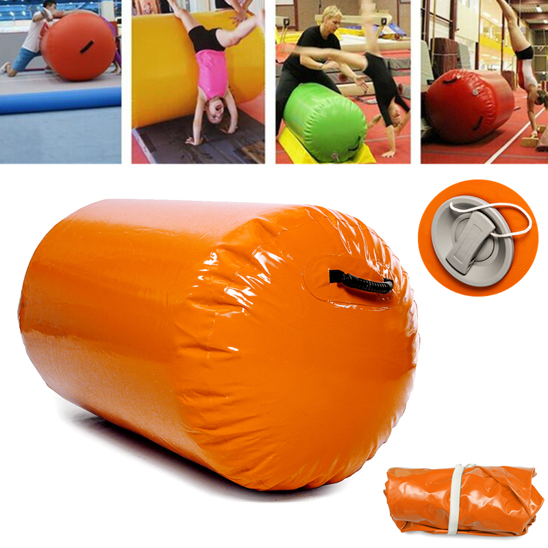 47.2x23.6inch Inflatable Tumbling Oval Mats Airtrack Exercise Tools Gymnastics Air Rolls Balance Fitness Training Roller Beam