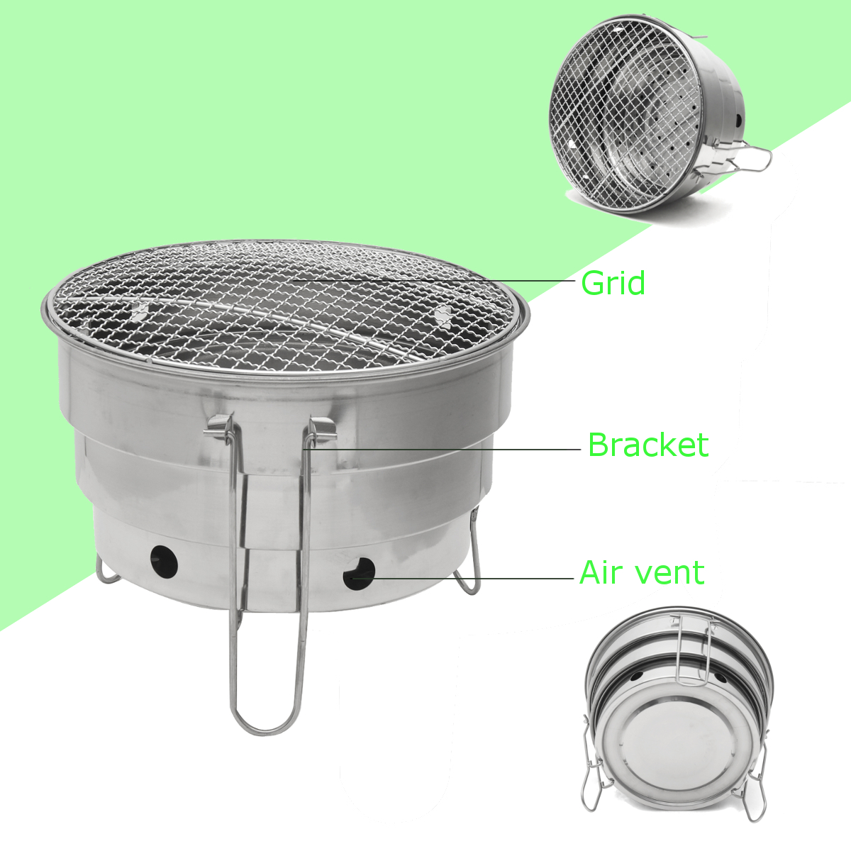 Picnic BBQ Barbecue Charcoal Grill Folding Portable Outdoor Camping Burner Patio Cooking Stove