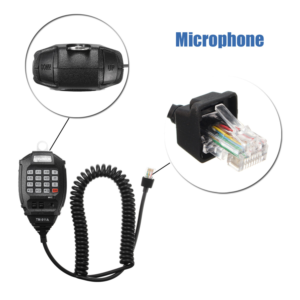 75W12V 150km VHF Mobile Car Marine Radio Walkie Talkie Transceiver with Microphone