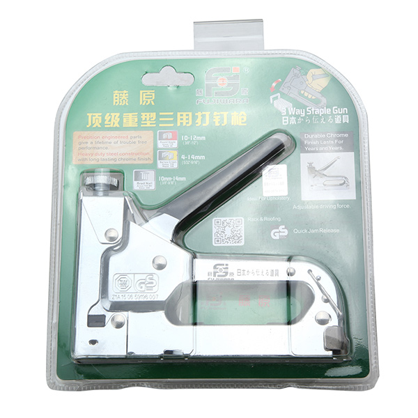 Heavy Duty Rapid Upholstery Hand Tool Nail Staple Gun Stapler for Wood Furniture Door with 800 Nails