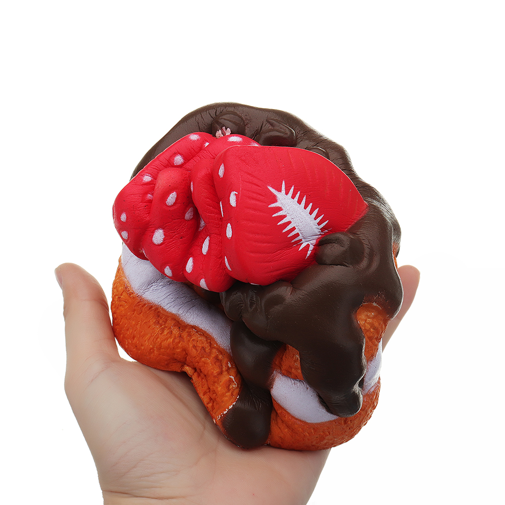 Strawberry Chocolate Cake Squishy 11*11*14 CM Slow Rising Collection Gift Soft Toy