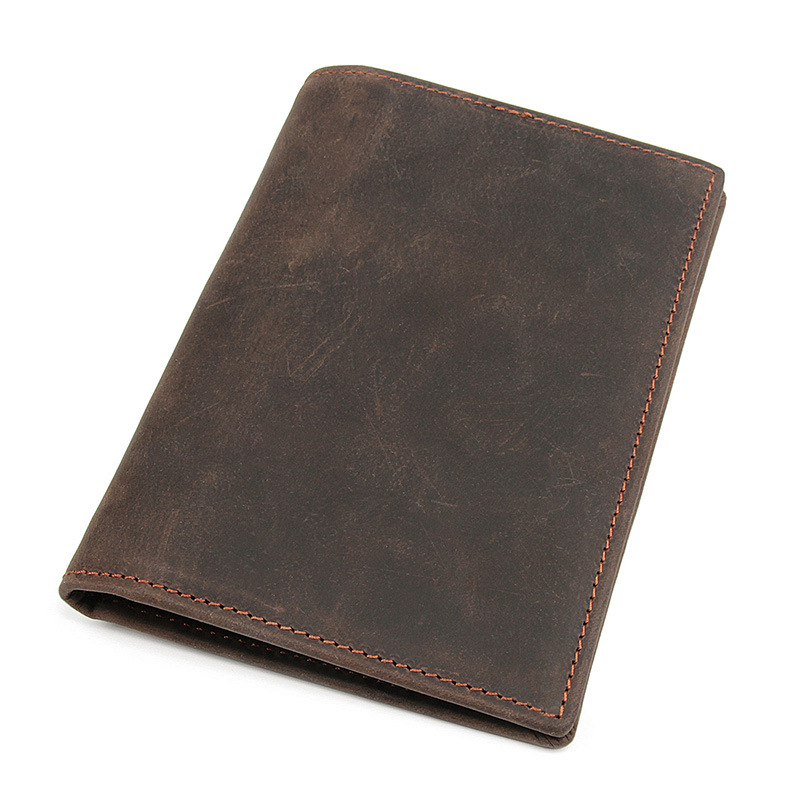 Men RFID Antimagnetic Wallet Genuine Leather Driver Lisence Bag Passport Holder Card Holder