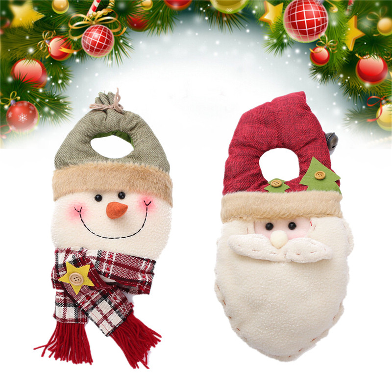 Christmas Santa Clause Snowman Soft Toy Wall Door Tree Hanging Decoration