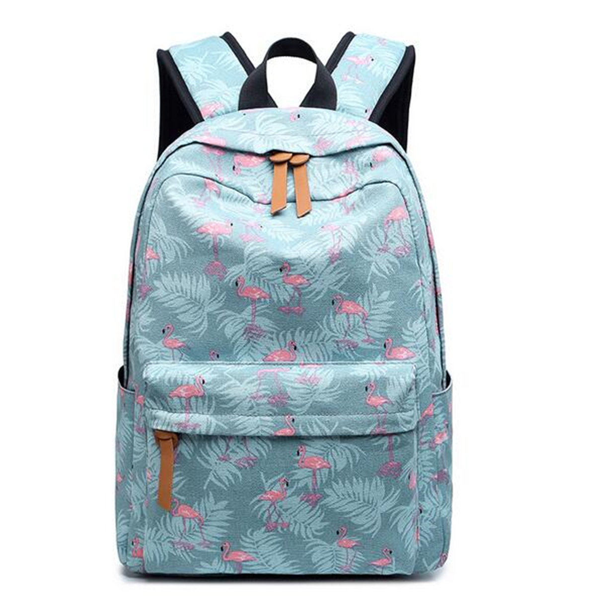 14inch Women Flamingo Canvas Laptop Backpack Ruckpack Girls School Bag Satchel Camping Travel