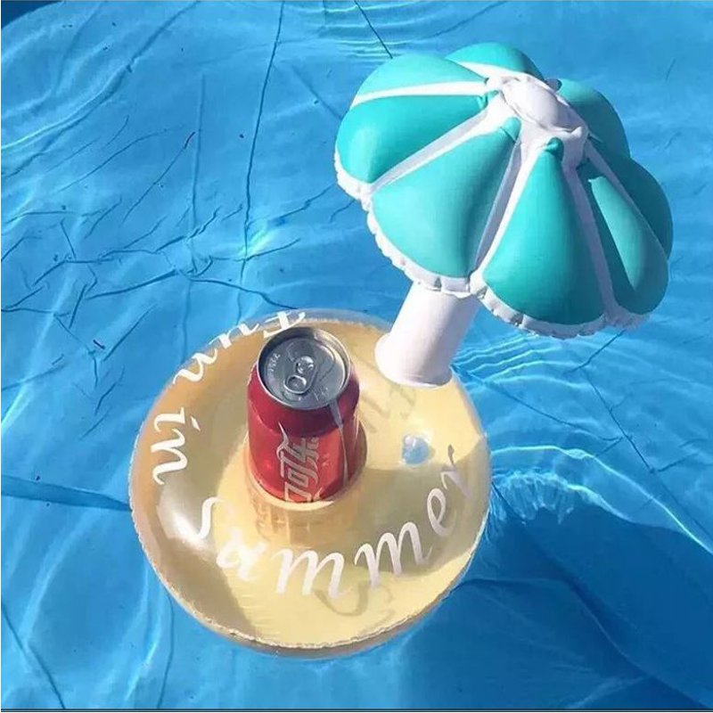 Coconut Tree Floating Inflatable Drink Can Holder Swimming Pot Party Funny Toy