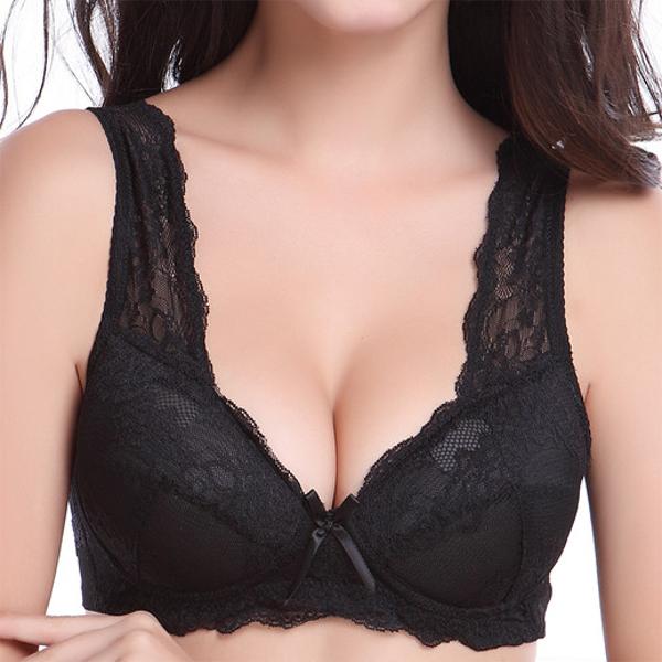 Wireless Deep Plunge Comfort Lace Women Bras