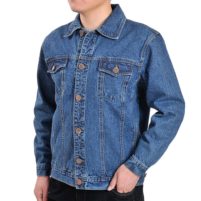Casual Fashion Autumn Cotton Classic Denim Jacket for Men