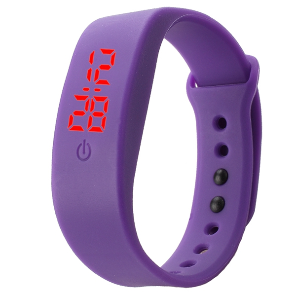 B5 LED Red Light Fashion Silicone Unisex Sport Digital Watch