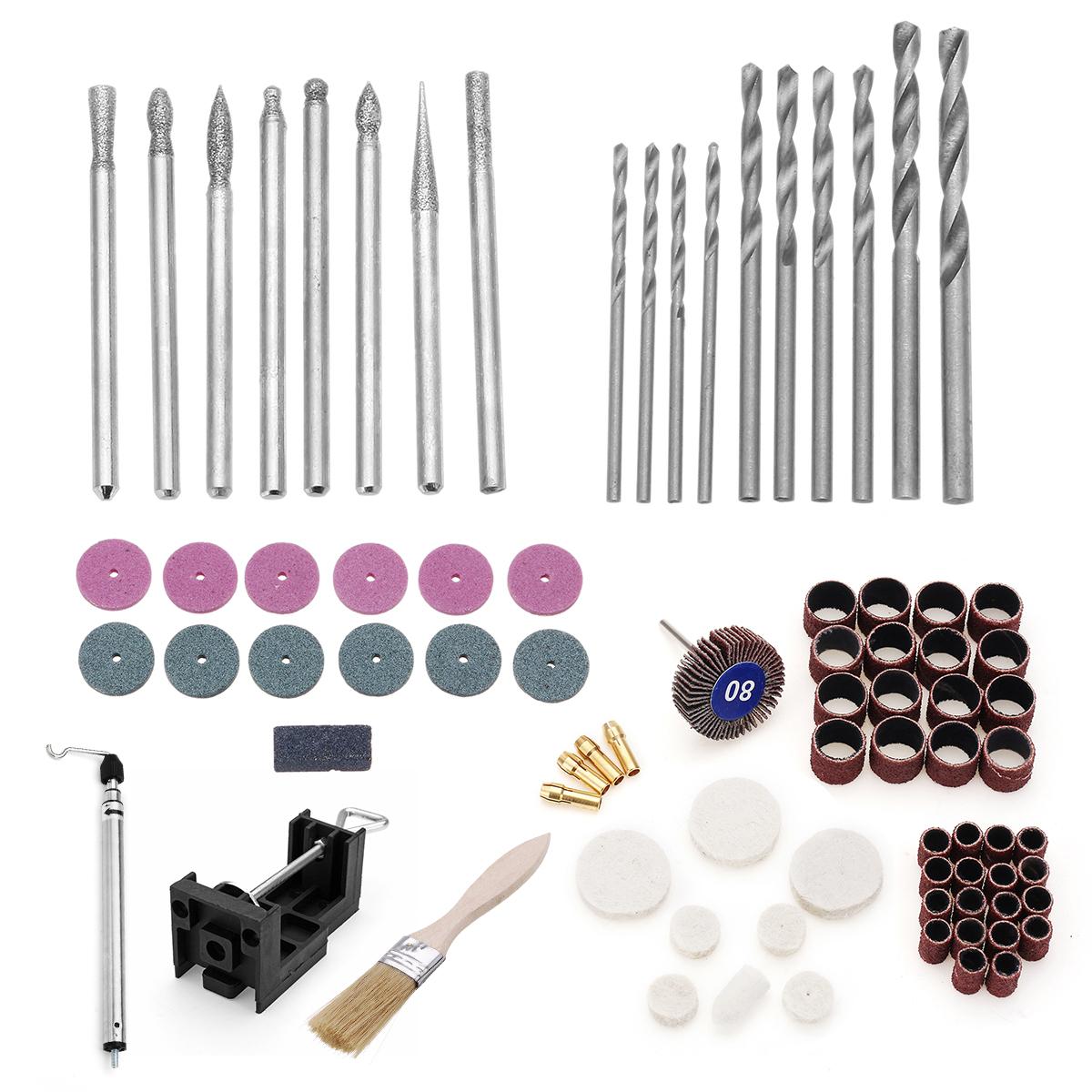 173Pcs Grinding Carving Tool Kit Mini Drill Set Electric Grinder Polishing Machine Craft Grinding