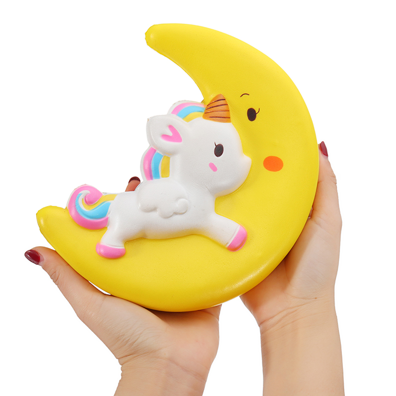 Squishy Unicorn Moon Slow Rising 19*16*5.5cm Collection Gift Decor Toy