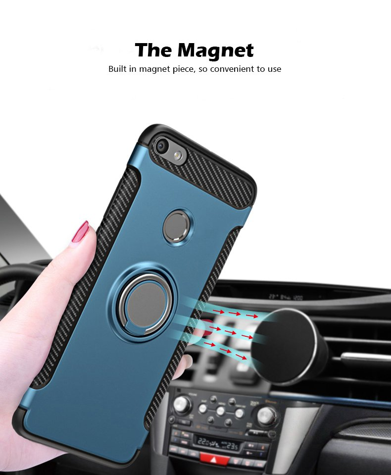Bakeey Anti-slip Shock-proof Back Cover with Ring Holder Protective Case for Xiaomi Mi 5X / Mi A1
