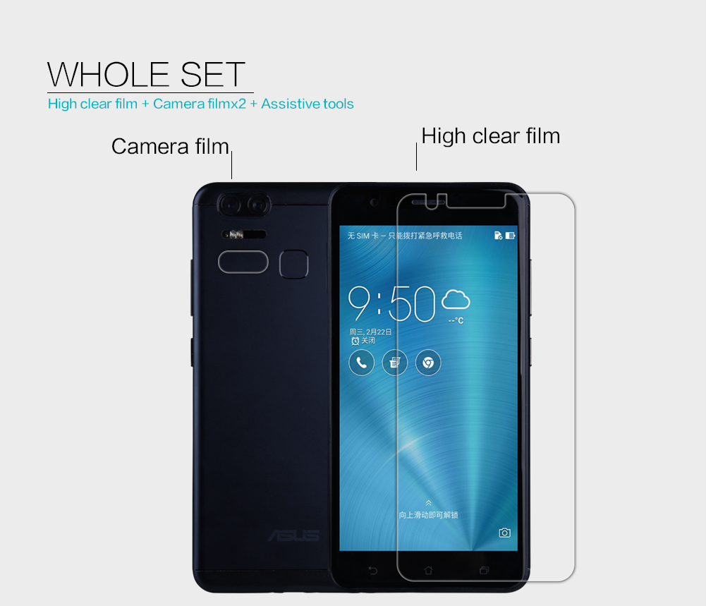 Nillkin Super Clear High Definition Soft Screen Protector for ASUS ZenFone 3 Zoom ZE553KL