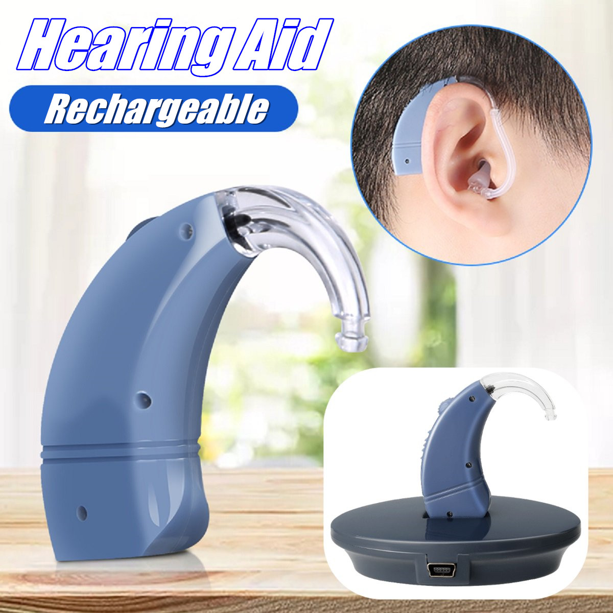 Digital Hearing Aid USB Rechargeable Voice Sound Amplifier