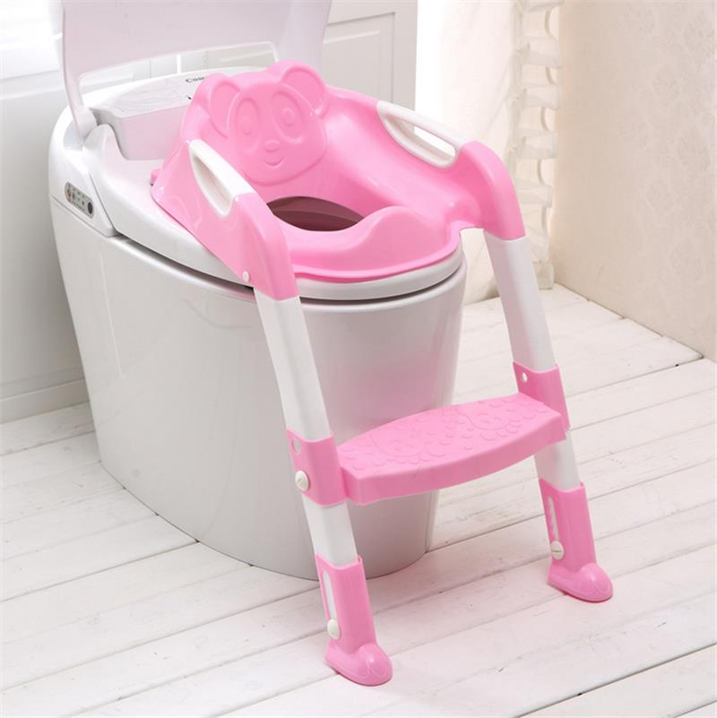 Kids Toilet Potty Trainer Seat Step Up Training Stool Chair Toddler With Ladder Folding