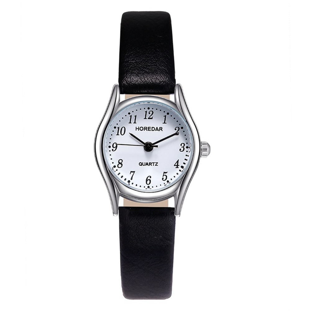 HOREDAR 3079 Retro Style Small Dial Leather Women Watch