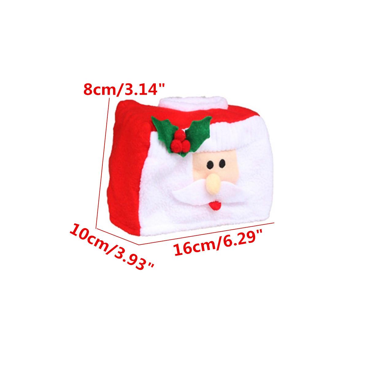 Christmas Style Santa Claus Belt Felt Tissue Case Storage Box DIY Paper Holder Home Decoration