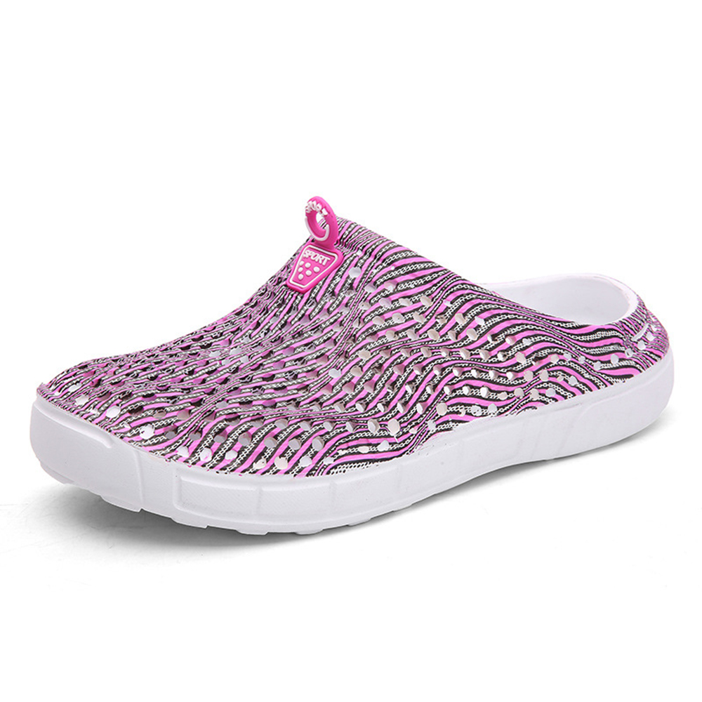 Mesh Hollow Out Breathable Slip On Sandals
