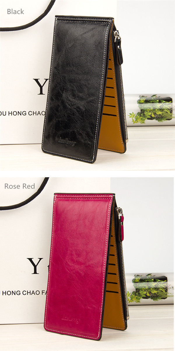 Ultra Thin 16 Card Holder Zipper Long Purse Candy Color Wallet Coin Bags 5.5'' Phone Bag