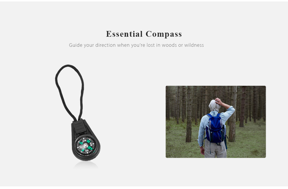 7 In 1 Multifunction Emergency Survival Kit Outdoor SOS Equipment Tool For Traveling Hiking Hunting
