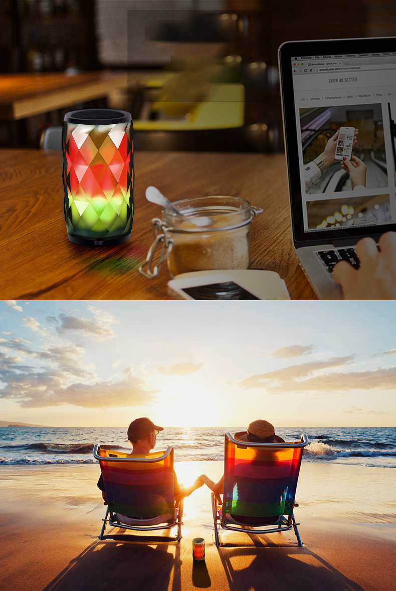 SOAIY S75 Wireless bluetooth Speaker 19W 10 Hour Play Time Decorative Smart Creative LED Lamplight Outdoor Speaker Heavy Bass 7 Color Changes HIFI bluetooth Speaker
