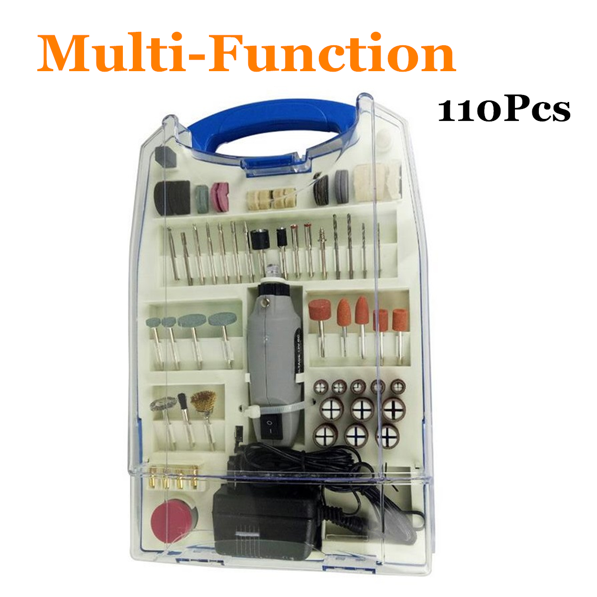 Rotary Tools 12V 110 pcs Mini Rotary Kit Accessories Mini Rotary Grinder Polisher Hand Drill