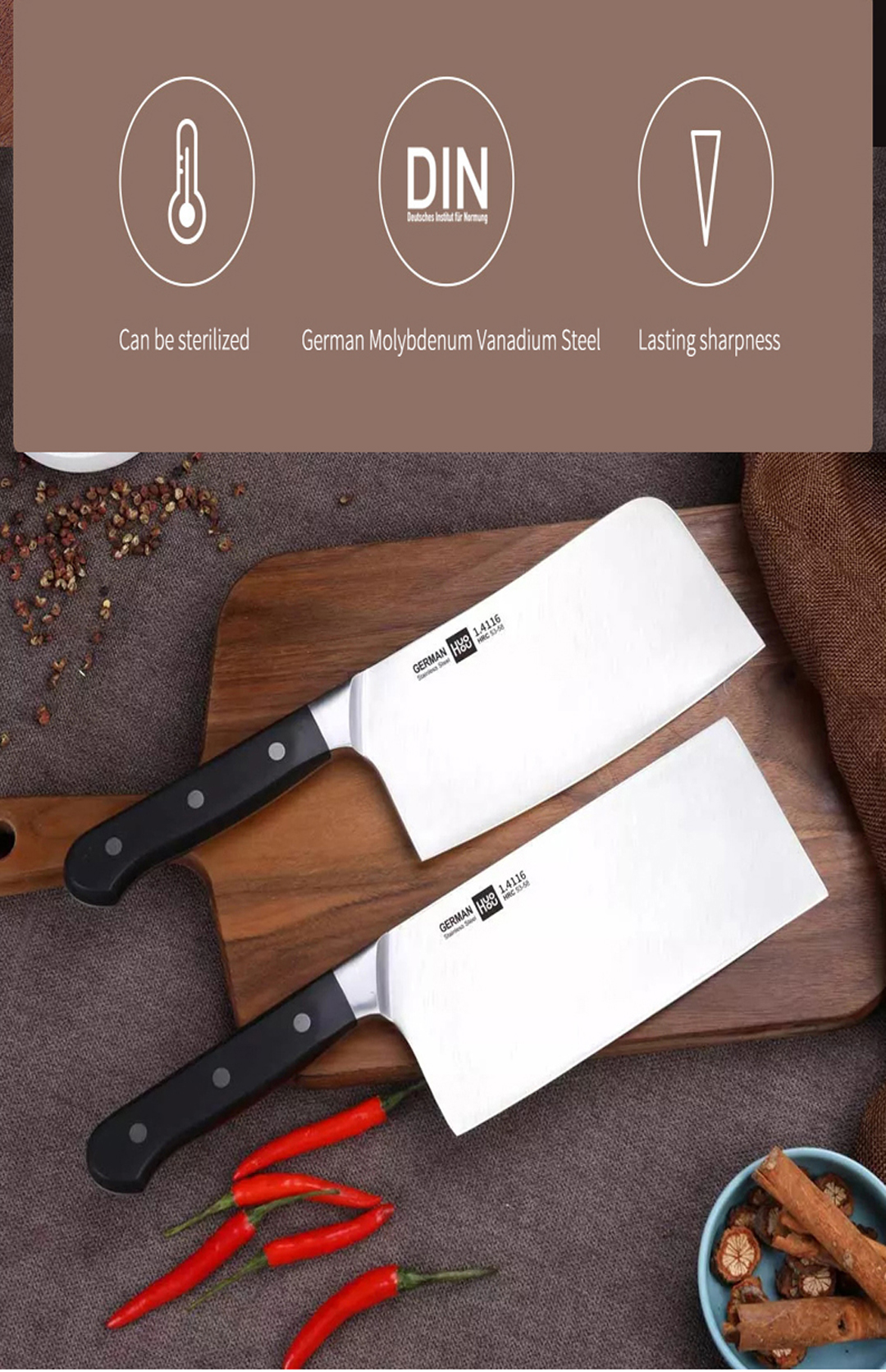 HUOHOU Stainless Steel Kitchen Knife Chef Knife Sharp Slicer Blade Slicing Utility Knife Tool from Xiaomi Youpin