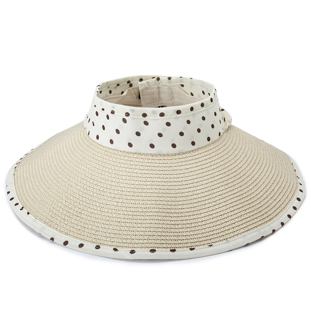 Stripe Bowknot Beach Cap Sun Protection Wide Brimmed Hat