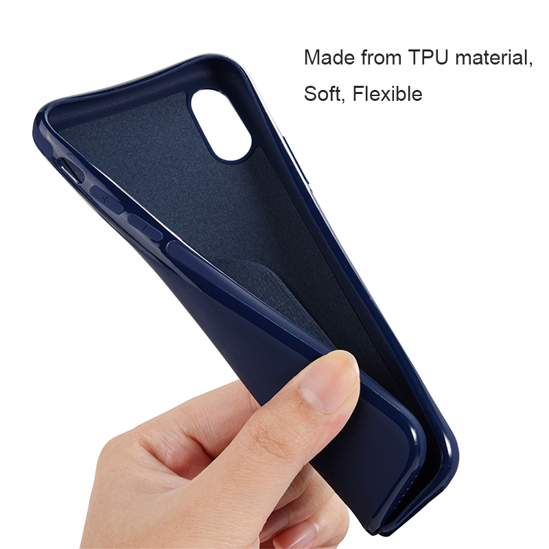 SULADA Magnetic Adsorption Soft TPU Silicone Cover Case for iPhone X