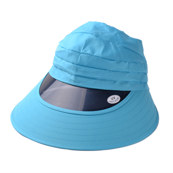 Women Ladies Girls Sun Visor Wide Brim Foldable Sun UV Protect Hat Beach Cap