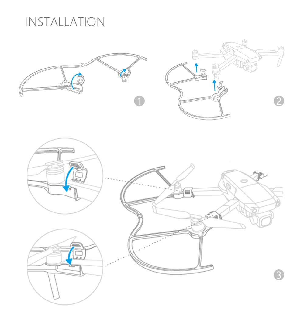 PGYTECH Foldable Propeller Props Guard Protection Cover Protector for DJI Mavic 2 PRO/ZOOM Drone