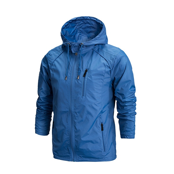 Mens Outdooors Jacket Hooded Waterproof Windbreaker Sports Quick Drying Skin Coat 5 Color