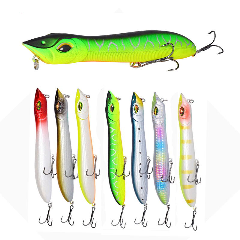 14CM Topwater Popper Bait Fishing Lures Hard Bait And T
