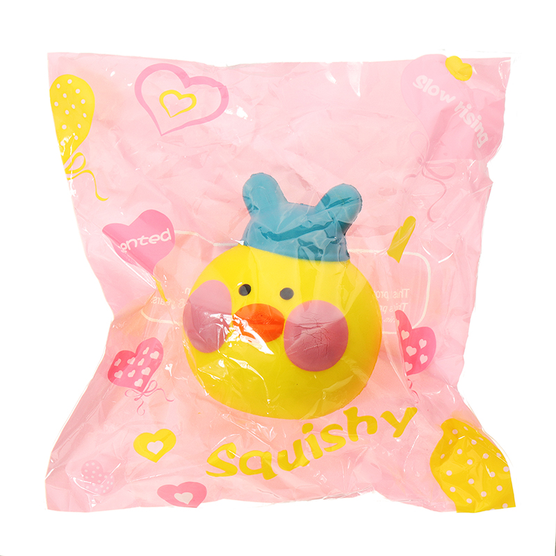 Yellow Duck Squishy 10*8.5*9cm Slow Rising With Packaging Collection Gift Soft Toy