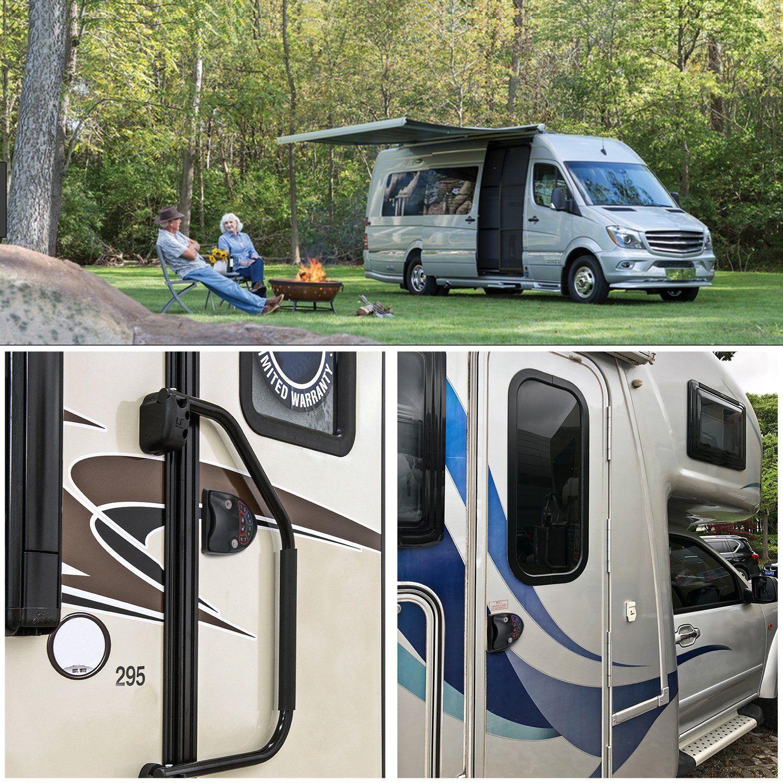 RV Keyless Entry Door Lock Latch Handle Knob Deadbolt Camper Caravan Trailer