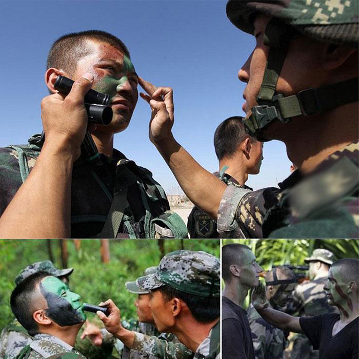 3pcs/box 3 Colors Body Painting Military Enthusiasts CS Outdoor Field Bionic Oil Camouflage Oil