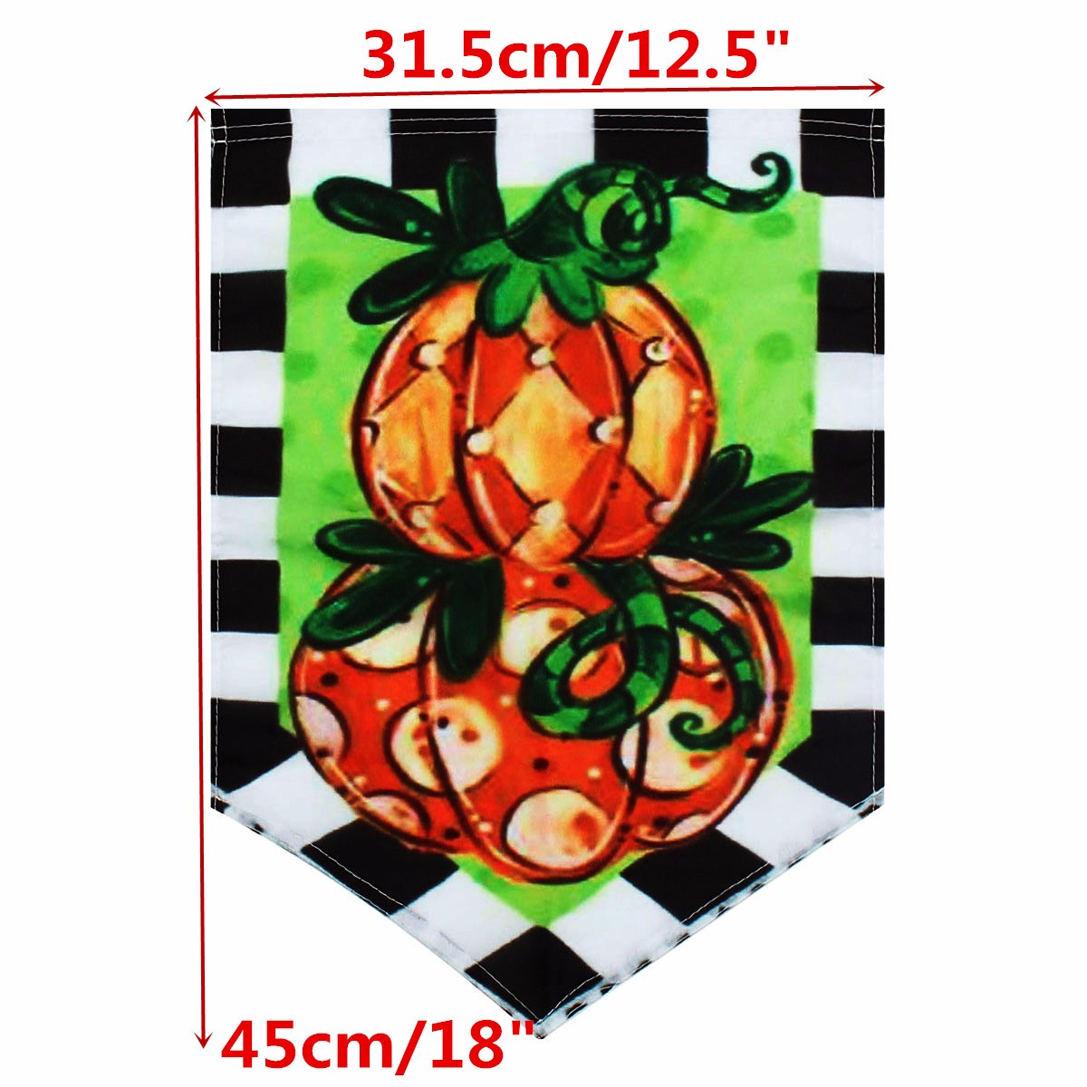 12.5''x18'' Garden Flag Tom's Pumpkin Topiary Autumn Holiday Fall Yard Banner Decorations