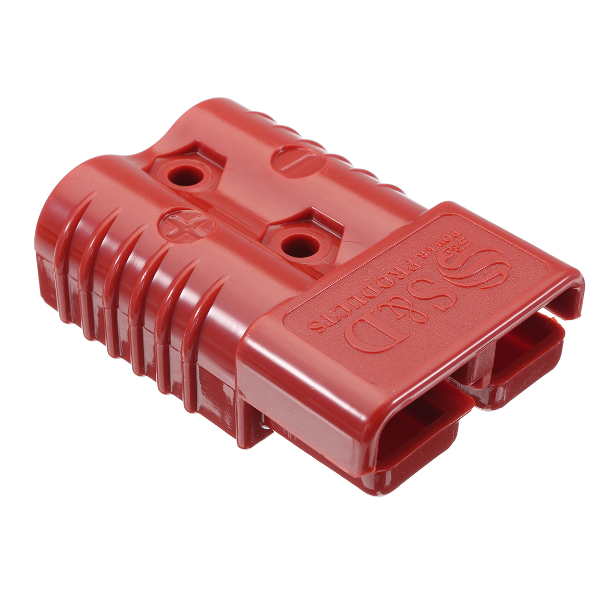 175AMP 600V Bipolar Power Cable Connector Plug 2 Plugs 4 Terminals 1 Pin Rubber Shell ABS Material