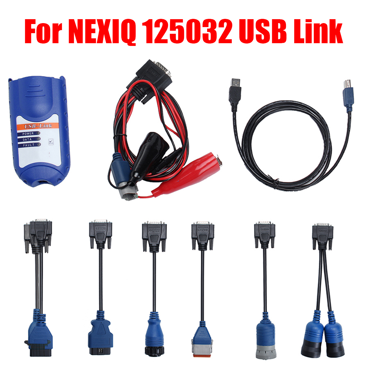 7Pcs 125032 USB Link Diesel Heavy Duty Truck Diagnostic Tool for RP1210A/B