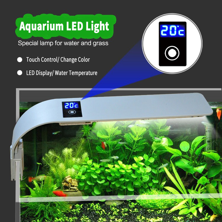 Loskii PT-08 Aquarium Fish Tank LED Light 15W 5730 Energy Saving Lamp EU Plug Aquatic Lightings Bar