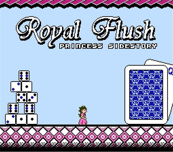 Royal Fluh Princess Side Story 72 Pin 8 Bit Game Card Cartridge for NES Nintendo