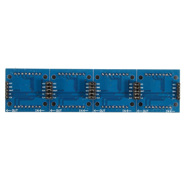 MAX7219 Dot Matrix 4 In 1 8x8 Display 5P Line Module For Arduino